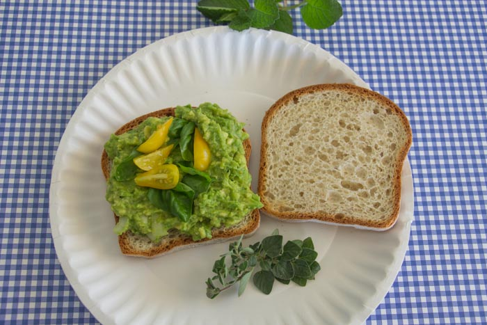 Avocado / Herb Sandwich IMG_3662