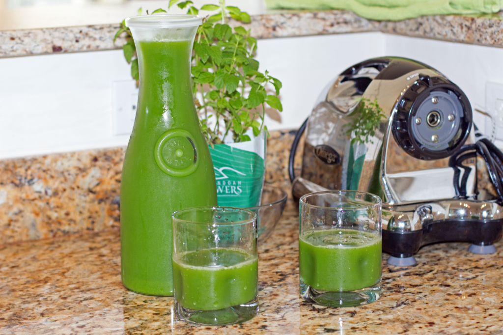 Green Juice Carafe and Glasses (Photo: Margarita Persico)