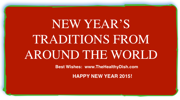 New Year Traditions From Around the World (Photo/Artwork: Margarita Persico / www.TheHealthyDish.com )