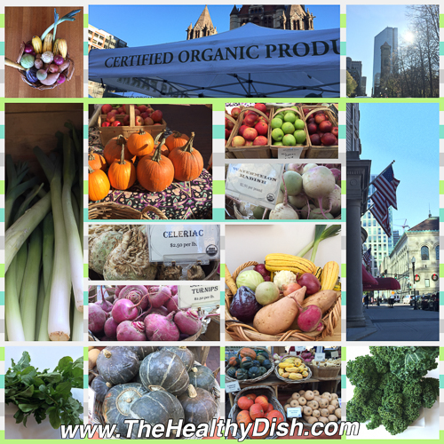 Collage of Boston's Farmers Market at Copley, Photo: Margarita Persico
